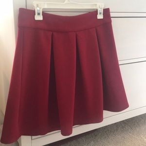 Ruby red limited brand skater skirt size 8